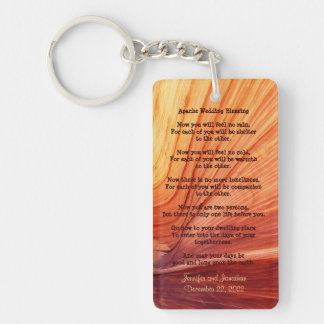 Apache Wedding Blessing Favor Southwest Keychain