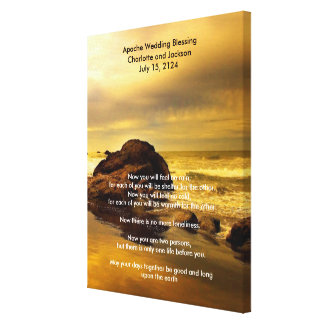 Apache Wedding Blessing Gold Ocean Rock Canvas Print