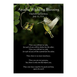 Apache Wedding Blessing Mother Hummingbird Poster