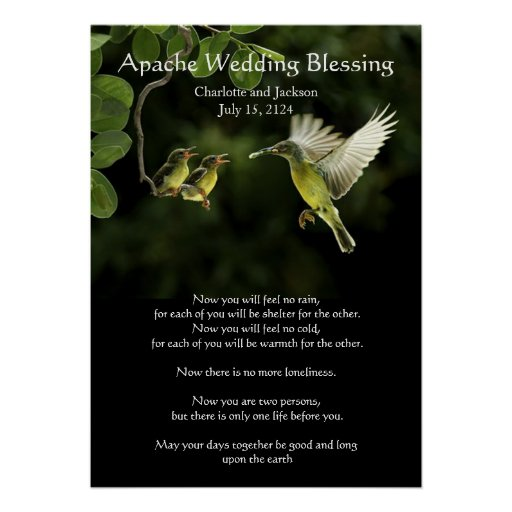 Apache Wedding Blessing Mother Hummingbird Posters