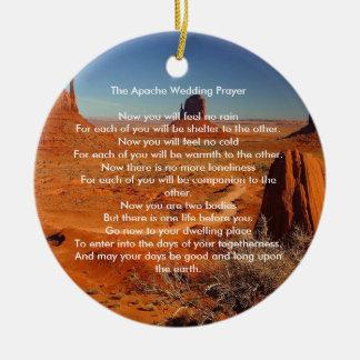 Apache Wedding Blessing Prayer - personalized Ceramic Ornament