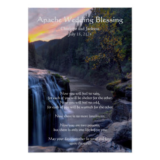 Apache Wedding Blessing River Water Falls Poster