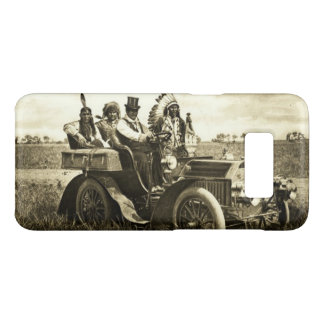 APACHES ,GERONIMO DRIVING A MOTOR CAR Black White Case-Mate Samsung Galaxy S8 Case