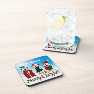 APAL - Christmas Dalmatian Dogs Set Drink Coasters
