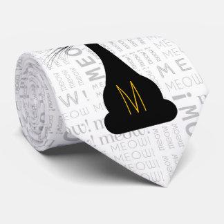 APAL: Monogrammed Black Cat Tie