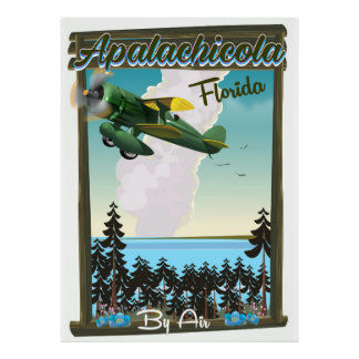 Apalachicola National Forest Florida flight poster