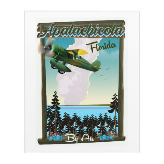 Apalachicola National Forest Florida flight poster Acrylic Wall Art