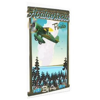 Apalachicola National Forest Florida flight poster Canvas Print