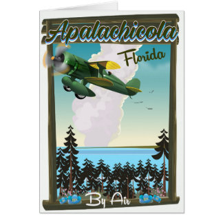 Apalachicola National Forest Florida flight poster Card