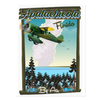 Apalachicola National Forest Florida flight poster Postcard