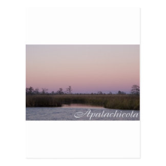 Apalachicola sunset postcard