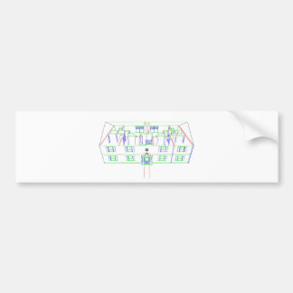 Apartment Building / House: Marker Drawing Bumper Sticker