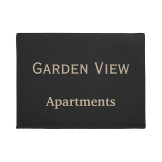 Apartment Complex Logo Doormat