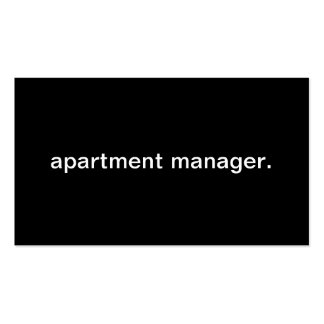 Apartment Manager Business Card