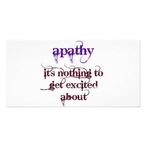 Apathy Humorous Custom Photo Card
