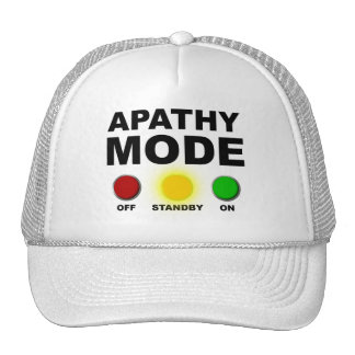 Apathy Mode Whatever Funny Ball Cap Hat