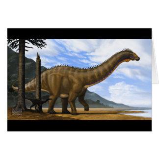 Apatosaurus and Ornitholestes Blank Card