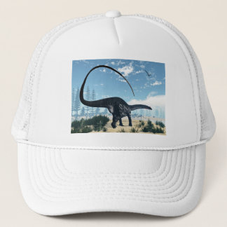 Apatosaurus dinosaur in the desert - 3D render Trucker Hat