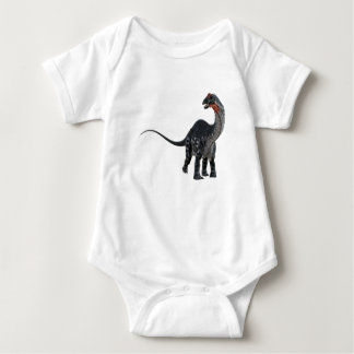 Apatosaurus Dinosaur Looking to the Front Baby Bodysuit
