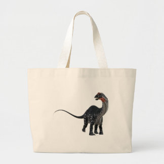 Apatosaurus Dinosaur Looking to the Front Large Tote Bag