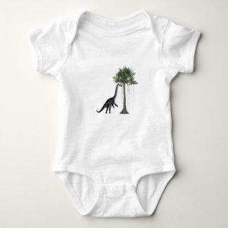 Apatosurus Dinosaur feeding on a Tree Baby Bodysuit