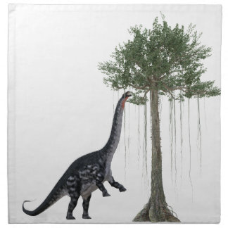 Apatosurus Dinosaur feeding on a Tree Napkin