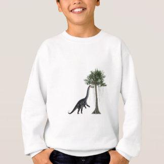 Apatosurus Dinosaur feeding on a Tree Sweatshirt