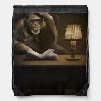 Ape Chimpanzee Monkey Drawstring Backpacks