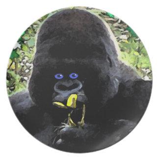 Ape face design plates