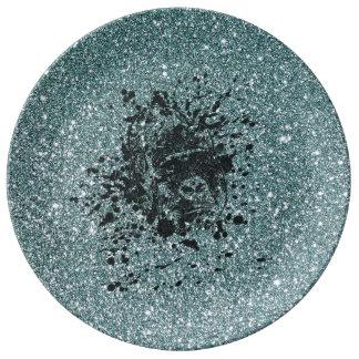 Ape Glitter Porcelain Plate