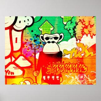 Ape Graffiti Poster