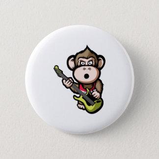 Ape Guitar 6 Cm Round Badge