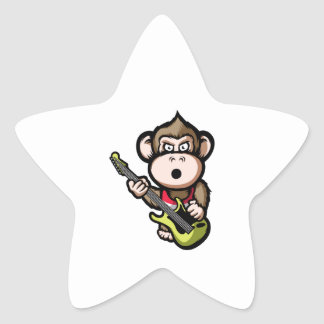 Ape Guitar Star Sticker
