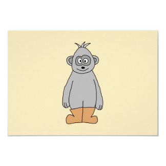 """Ape in Brown Boots. 3.5"""" X 5"""" Invitation Card"""