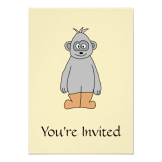 """Ape in Brown Boots. 5"""" X 7"""" Invitation Card"""