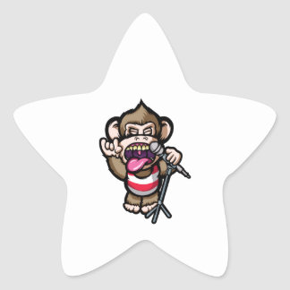 Ape Mic Star Sticker