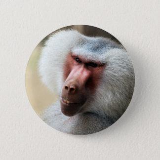 Ape saying howdy 6 cm round badge