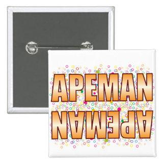 Apeman Bubble Tag 15 Cm Square Badge