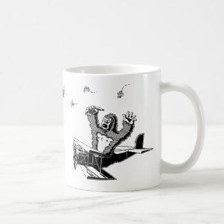 Apes On Planes Basic White Mug