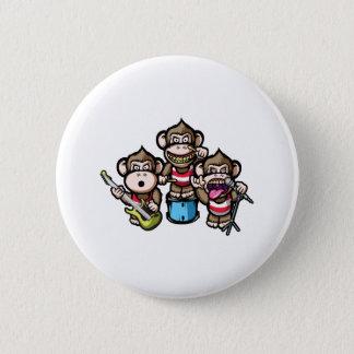 Apes Rock 6 Cm Round Badge