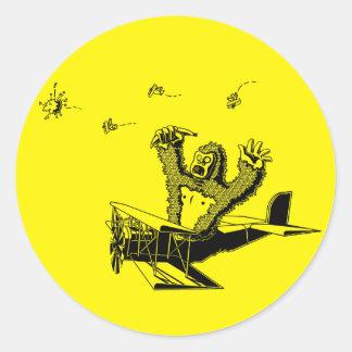 ApesOnPlanes Round Sticker