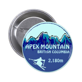 Apex Mountain British Columbia blue ski button