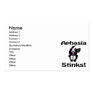 Aphasia Stinks Skunk Awareness Design Pack Of Standard Business Cards