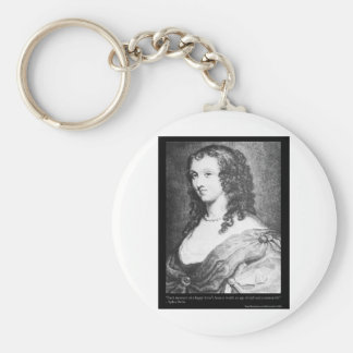 Aphra Behn Love Quote tees cards gifts etc Basic Round Button Key Ring