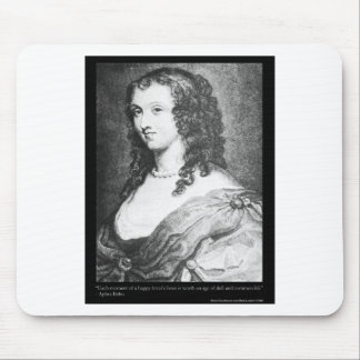 Aphra Behn Love Quote tees cards gifts etc Mouse Pad