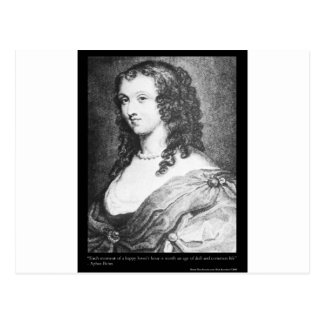 Aphra Behn Love Quote tees cards gifts etc Postcard