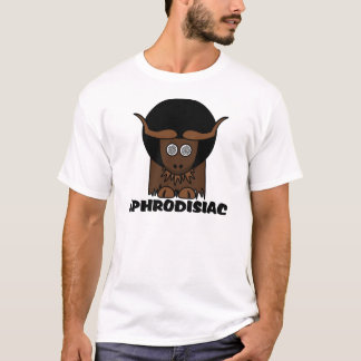 Aphrodisiac Funny Afro Dizzy Yak Tee Shirt