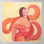 Aphrodite in Apricot Poster