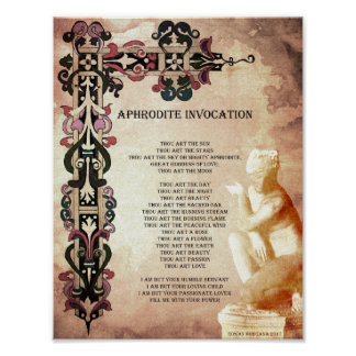 APHRODITE INVOCATION POSTER