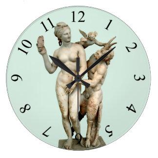 Aphrodite, Pan and Eros Large Clock